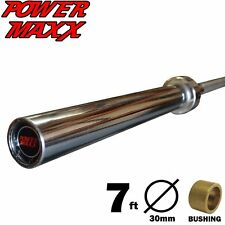 POWER MAXX 7ft 1000lbs Olympic Barbell Bar Weights Power Rack Plate Workout