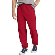 Hanes ComfortBlend Men's Red Fleece Elastic Bottom Sweat Pants Size 3XL 48-50