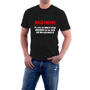 BAD NEWS TOUR T-shirt New Romantics Heavy Metal Comic Strip Tee Sillytees