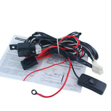 12V LED HID Fog Work Driving Light Lamp Wiring Loom Harness Switch Relay Kits