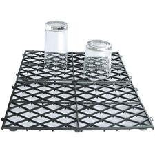 More details for 20 interlocking glass mats black plastic pub bar liner shelf matting 8