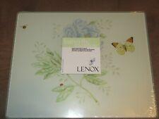 """Lenox Butterfly Meadow Kitchen Glass Food Preparation Board-8""""W X 10""""L-New"""