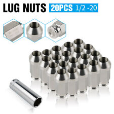 20X 1/2x20 Stainless Steel Extended Lug Nuts For Ford Mustang 94-10 Ranger 90-11