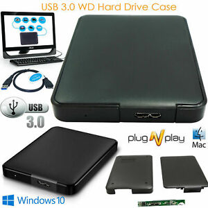 USB 3.0 2.5 Inch Hard Drive Enclosure SATA HDD SSD Caddy Case For LAPTOP PC DVR