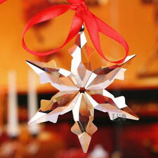 Crystal Champagne Christmas Little Star Snowflake Ornament Xmas Gift with Box~