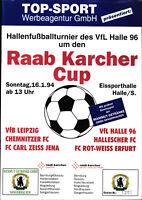 1994 HT VfL Halle 96 mit Chemnitzer FC, Carl Zeiss Jena, Rot-Weiss Erfurt, ...