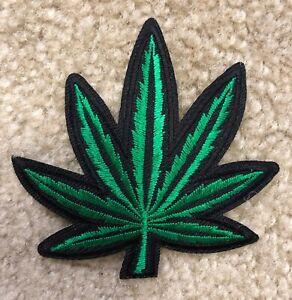 #6101 Pot Leaf Ganja Marijuana weed Embroidery Iron On Applique Patch