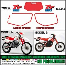 Kit Adesivi Mono Cross Yamaha TT 350 600 59x forcellone monocross forcella