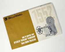 BELL AND HOWELL 16MM SOUND PROJECTOR 1552 OWNERS MANUAL