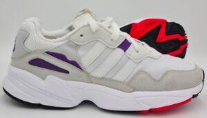 Adidas Originals Yung-96 Trainers Cloud White/Grey/Purple DB2601 UK9.5/US10/EU44