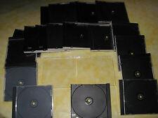20 X CD - DVD - BlueRay Hüllen Jewel Case Leerhüllen Schwarz für 1CD-DVD-BLUERAY