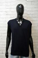 Paul & Shark Uomo Maglione 2XL Pullover Cardigan Maglia Sweater Lana Smanicato