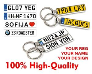 Personalised Keyring Keychain Key Chain Your Car Number Plate Your Text photo