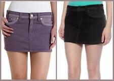 Denim Juniors Solid Mini Skirts for Women