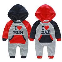 1PCS Infant Kids Baby Boys Girls Hooded Romper Jumpsuit Clothes Bodysuit Outfits