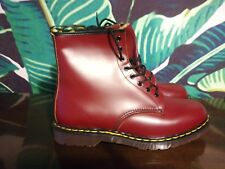 RARE MADE IN ENGLAND Dr martens  UK 14 8 Eyelet Oxblood Red Leather boots 1460