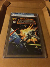 STAR WARS X-WING ROGUE SQUADRON #1/2 SILVER EDITION CGC9.6