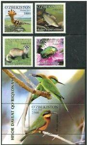 Uzbekistan 2015 insects fish birds fauna set+s/s MNH