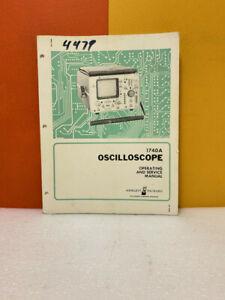 HP 01740-90909 Model 1740A Oscilloscope Operating and Service Manual