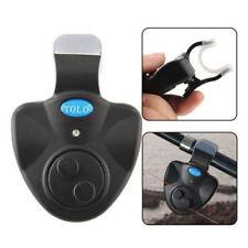 3 x Clip On Canna pesca Bite Alarm, luminoso LED blu, forte allarme, Notte, Basso,