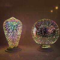 3D Fireworks E27 G80 LED Retro Vintage Edison Glass Fairy Light Bulb Lamp Decor