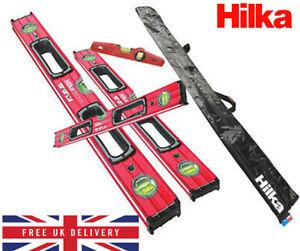 New HILKA Spirit Level Kit 5 Piece Professional Torpedo Box Level Set HEAVY DUTY