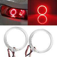 2pc Red LED Light Guide Angel Eyes Halo Rings for Car Headlight Retrofit 6W