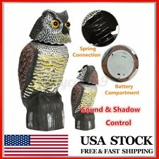360° Rotating Head Fake Owl Decoy Outdoor Garden Yard Decor Bird Weed Pest Repel