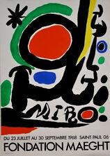 Foundation Maeght, 1968 by Joan Miro Art Print Original Exhibition Poster 20x29