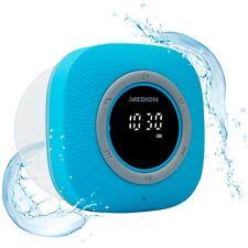 MEDION P66096 Duschradio Badradio Display Saugnapf Bluetooth 30W IPX6 blau