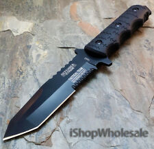 "9"" Navy SEALs Full Tang Tactical Fixed Blade Survival Bowie Knife w/ SHEATH"