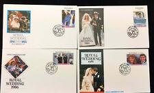 Nanumea Tuvalu 1986 Royal Wedding FDC First Day Cover Set #C43663