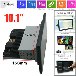 "10.1"" 1DIN Android 9.1 Touch Screen WiFi 1G+16G Car Stereo Radio GPS MP5 Player"