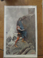 Howard Pyle Print - The Rescue of Azilicz