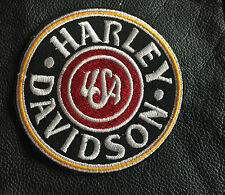 Harley Davidson patch écusson USA BADGE MC, motard, blouson, Scull, Harley, 9cm-neu
