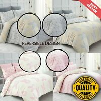 Hunny Bunny Print Duvet Cover Set 200 Thread Count Cotton All Size Bedding Sets