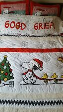 Pottery Barn teen kids Peanuts Holiday snoopy FULL QUEEN quilt shams sheet 9 pcs