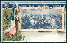 Militari 49º Reggimento Fanteria Brigata Parma Villafranca cartolina XF0134