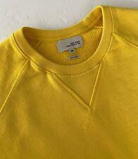 "Jack Spade ""Price"" Sweatshirt M Bright Yellow Crewneck Raglan Sleeves 100%Cotton"