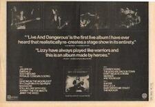 Thin Lizzy Live & Dangerous UK LP advert 1978