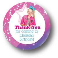 30 JoJo Siwa Thank You! Birthday Party Favor Stickers - Personalized