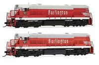 Arnold Burlington CB&Q GE U28C Diesel DCC Ready #563 / #571 N Scale Locomotives