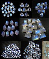 Natural Rainbow Moonstone Mix Shape Cabochon Loose Gemstone