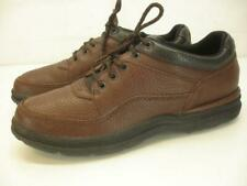 Women's 10 M Rockport Prowalker Walking Shoes WWT11 Brown Leather Lace-Up Oxford