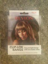 Revlon Clip Lok Bangs Hair Extensions Dark Brown