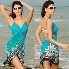 Women's sexy beach Swimwear Bikini skirt  Dress Deep V Neck Cover Up OS
