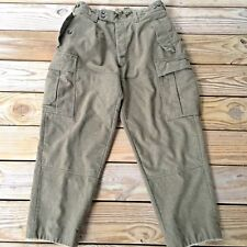 "Vintage Wool K Begemann Military Cargo Pants Green 34"" x 28"" Adjustable Original"