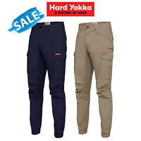 SALE Hard Yakka Work Pants Cuff 3056 Ripstop Stretch Cargo Slim Fit Tough Y02340