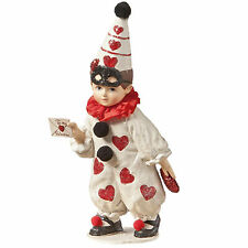 Bethany Lowe Circus Clown Boy Valentine's Day Heart Figurine Home Decoration