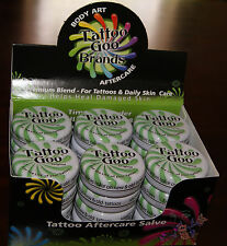24 Case Tattoo Goo Aftercare Clear Natural Salve Ointment Ink Goo .75oz/21g Tin